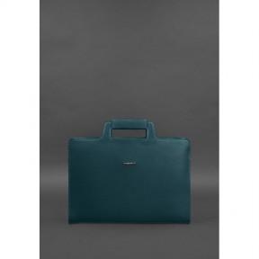 blanknote женская кожаная сумка для ноутбука и документов зеленая
