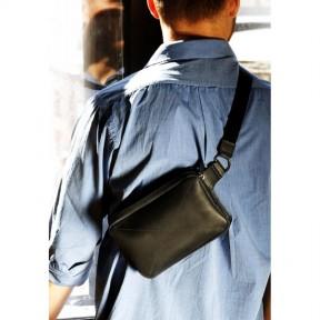 blanknote кожаная поясная сумка dropbag minі черная