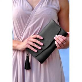 blanknote кожаная женская сумка элис черная