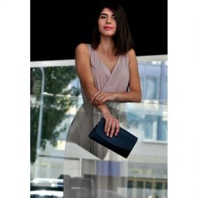 blanknote кожаная женская сумка элис синяя