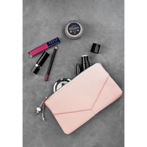 blanknote женская кожаная косметичка розовая