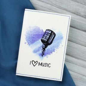blanknote обложка для паспорта i love music + блокнотик