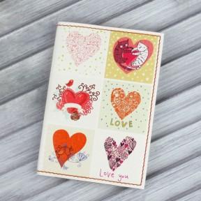 blanknote обложка для паспорта love is in the air + блокнотик