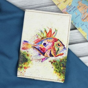 blanknote обложка для паспорта морское дно + блокнотик