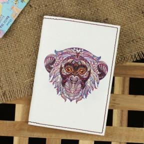 blanknote обложка для паспорта ethnic monkey + блокнотик