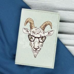 blanknote обложка для паспорта hipster goat + блокнотик
