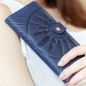 blanknote кожаное женское синее портмоне 7.0 инди