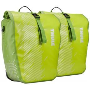 thule велосипедные сумки thule shield pannier large (chartreuse)
