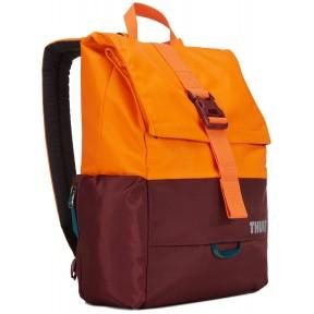 thule рюкзак thule departer 23l (dark bordeaux/vibrant orange)