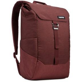 thule рюкзак thule lithos 16l backpack (dark burgundy)