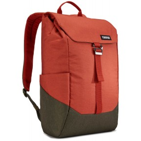 thule рюкзак thule lithos 16l backpack (rooibos/forest night)