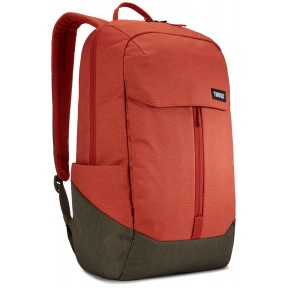 thule рюкзак thule lithos 20l backpack (rooibos/forest night)
