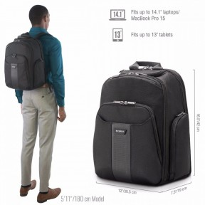 everki рюкзак для ноутбука everki versa 2 (ekp127b)